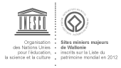 Logo sites miniers majeurs de Wallonie reconnu Patrimoine mondial de l'Unesco